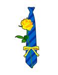 ネクタイとバラ
